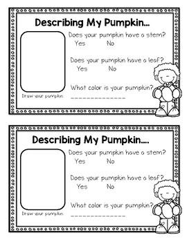 Pumpkin Math & Science--Observation Journal for K-2