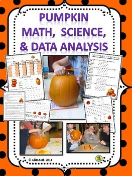Pumpkin Math, Science, and Data Analysis - 3rd, 4th, 5th,