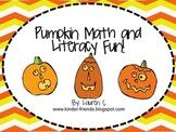 Pumpkin Math, Science and Literacy Mini Unit