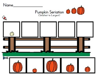 Pumpkin Math Seriation - Size Largest to Smallest/Smallest to Largest
