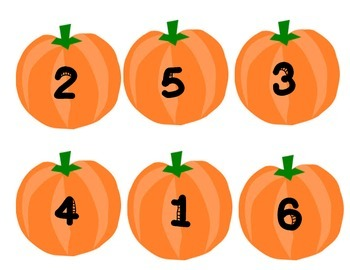 Pumpkin Math Sorting Mat 1-6