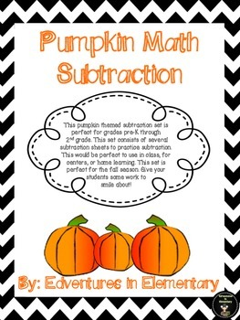Pumpkin Math - Subtraction