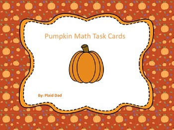 Pumpkin Math Task Cards