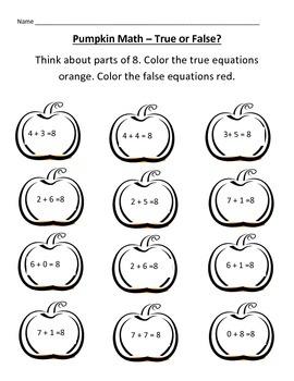 Pumpkin Math - True or False?