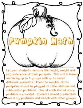 Pumpkin Math Unit