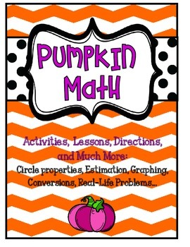 Pumpkin Math Unit Upper Elementary- graphing, estimation, much more