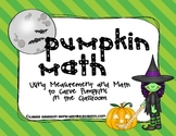 Pumpkin Math - Using Math and Measurement to Carve Pumpkin