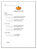 Pumpkin Math (Week Long Activities)