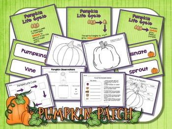 PUMPKIN LIFE CYCLE WITH POWERPOINT SCIENCE LITERACY AND MATH