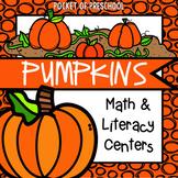 Pumpkin Math and Literacy Centers for Preschool, Pre-K, an