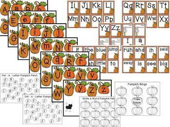 Pumpkin Math and Literacy Fun!
