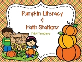 Pumpkin Math and Literacy Stations