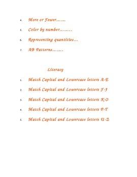 Pumpkin Math and Literacy Worksheets