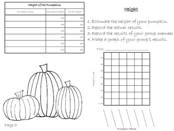 Pumpkin Math and Science Journal
