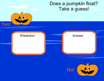 Pumpkin Math and Science Smartboard Activity