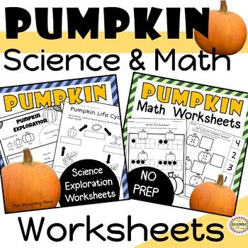 Pumpkin Math and Science Worksheets {No Prep}