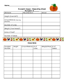 Pumpkin Math and Science for Grade 4