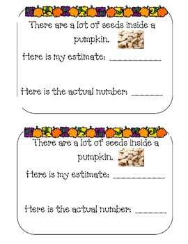 Pumpkin Math for Kindergarten