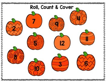 Fall Number Sense and Subitizing Centers
