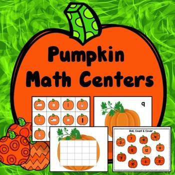 Fall Math Centers Kindergarten