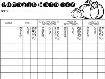 Pumpkin Math for Upper Elementary