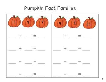Theme Math Packet - Pumpkin Math