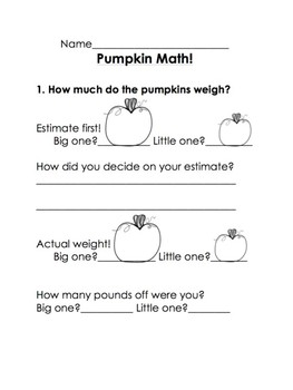 Pumpkin Math with a REAL pumpkin! (Older Elementary)
