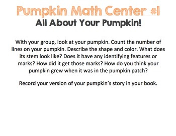 Pumpkin Math (with literacy and science connections too!)