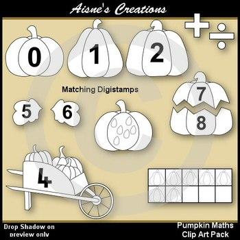 Pumpkin Maths Clip Art Pack
