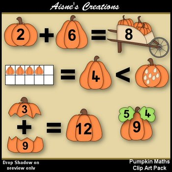 Pumpkin Maths Clip Art Pack
