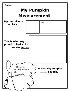 Pumpkin Measurement