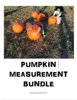 Bilingual Pumpkin Measurement Bundle/Medir calabazas