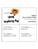 Pumpkin Measurement Book