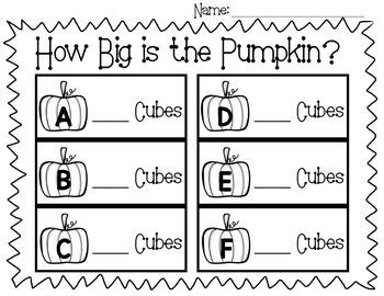 Pumpkin Measurement Freebie!