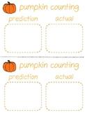 Pumpkin Measurement and Prediction sheet