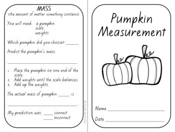 Pumpkin Measurements