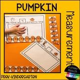 Pumpkin Measuring Activity for Preschool, Pre-K, Kindergar