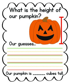 Pumpkin Measuring Anchor Chart {FREEBIE}