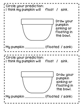 Pumpkin Measuring Booklet