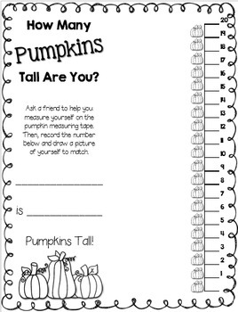 Pumpkin Measuring --- How Many Pumpkins Tall Are You???