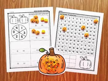 Pumpkin Mini Eraser Activities