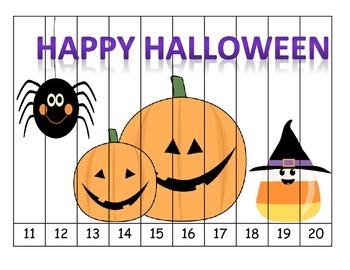 Halloween 1-20 Puzzles {Freebie!}