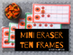 Pumpkin Miniature Eraser Counting Cards for Fall and Autumn Units - Preschool