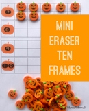 Pumpkin Miniature Eraser Counting Cards for Fall and Autum