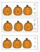 Pumpkin Missing Letter Clip Cards