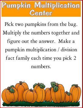 Pumpkin Multiplication Learning Center