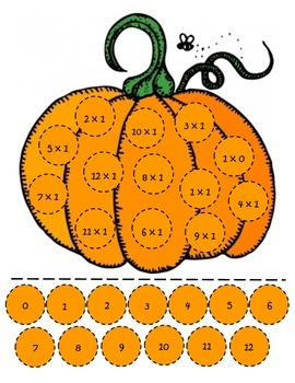 Pumpkin Multiplication Match