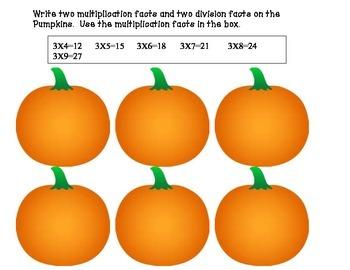 Pumpkin Multiplication Practice