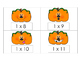 Pumpkin Multiplication Scoot or Flashcards 1s