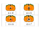 Pumpkin Multiplication Scoot or Flashcards 6s